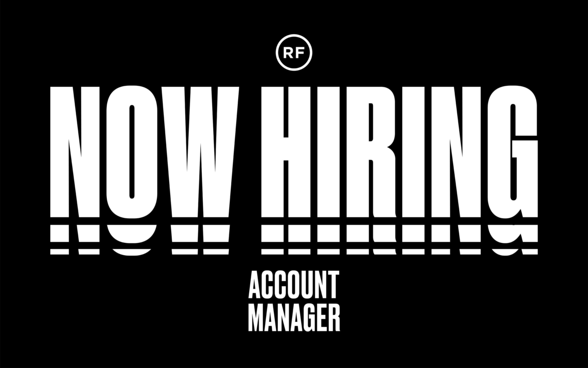 Rf Now Hiring Account Manager 01